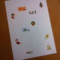 クリップアートを利用したメッセージカード